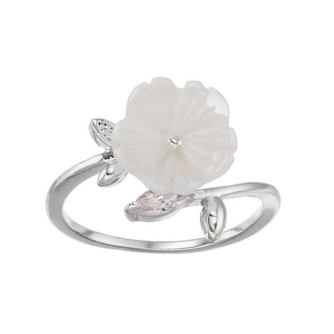 Update your ensemble with this ultrachic LC Lauren Conrad flower ring. Ring Details Width: .5 in. Plating: silver tone Not appropriate for children 14 years old and younger. Size: 7. Color: White. Gender: Female. Age Group: Adult.