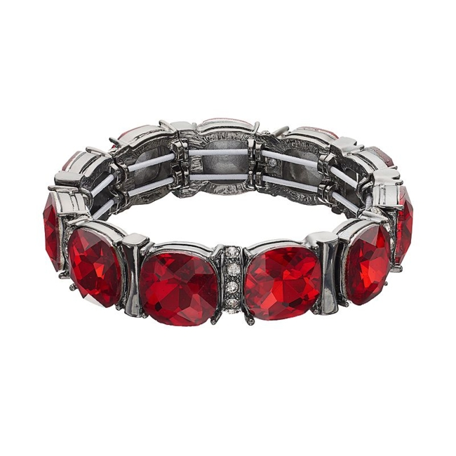 Add a pop of color to your outfit with this charming stretch bracelet. Bracelet Details Length: 7.8 in. Not appropriate for children 14 years old and younger. Size: One Size. Color: Red. Gender: Female. Age Group: Adult.