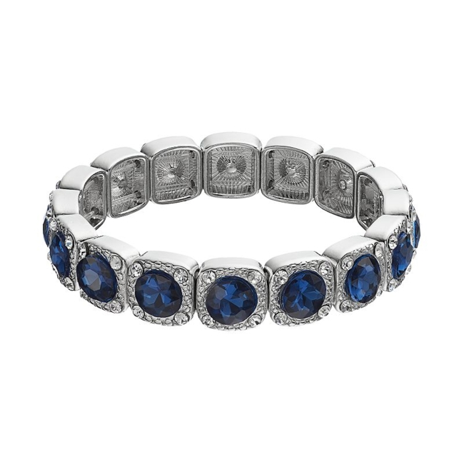 Eye-catching simulated crystals elevate this stretch bracelet. Bracelet Details Length: 7.8 in. Not appropriate for children 14 years old and younger. Size: One Size. Color: Navy. Gender: Female. Age Group: Adult.