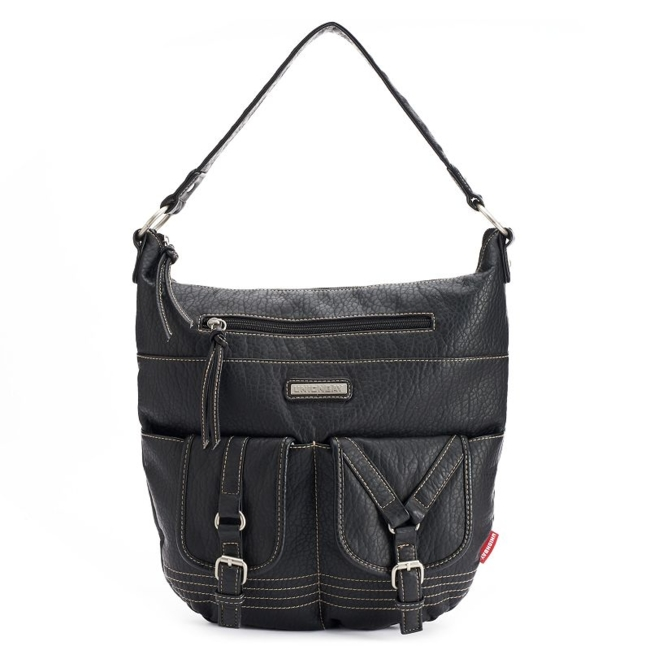 Complete your look in a fashionable way with this stylish Unionbay hobo bag. Handbag Features Silver-tone hardware Handbag Details 12.75H x 13.5W x 1D Shoulder strap: 7.5 drop Top zipper closure Exterior: 2 zip pockets & slip pocket Interior: 2 slip pockets & zip pocket Washed faux leather Size: One Size. Color: Black. Gender: Female. Age Group: Adult.