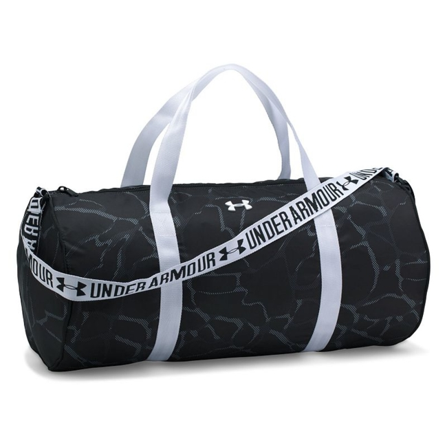 Show off your chic, sporty style on your way to practice with this women's Under Armour Favorite duffel bag. UA Storm technology repels water to protect your gear from the elements Full-length zippered top closure for easy access Adjustable webbed jacquard shoulder straps and handles Spacious main compartment holds your workout essentials 10.5H x 22W x 10.5D Weight: 0.75 lbs. Polyester Zipper closure Model no. 1294743 Size: One size. Color: Black. Gender: Unisex.