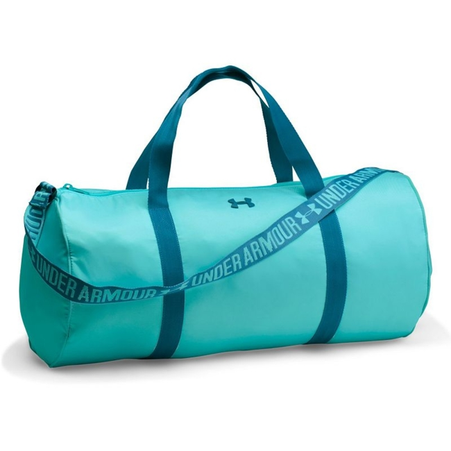 Show off your chic, sporty style on your way to practice with this women's Under Armour Favorite duffel bag. UA Storm technology repels water to protect your gear from the elements Full-length zippered top closure for easy access Adjustable webbed jacquard shoulder straps and handles Spacious main compartment holds your workout essentials 10.5H x 22W x 10.5D Weight: 0.75 lbs. Polyester Zipper closure Model no. 1294743 Size: One size. Color: Blue. Gender: Unisex.
