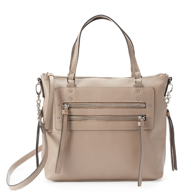 Bring your casual look to life with this Rosetti Christina shoulder bag. Handbag Features Chain accent on strap Silver-tone hardware Handbag Details 9.88H x 11.5W x 4D Handles: 5.5 drop Removable/adjustable crossbody strap: 19.5 approx. drop Top zipper closure Exterior: 2 side zip pockets & 2 front zip pockets Interior: 2 slip pockets & zip pocket Faux leather Size: One Size. Color: Brown. Gender: Female. Age Group: Adult.