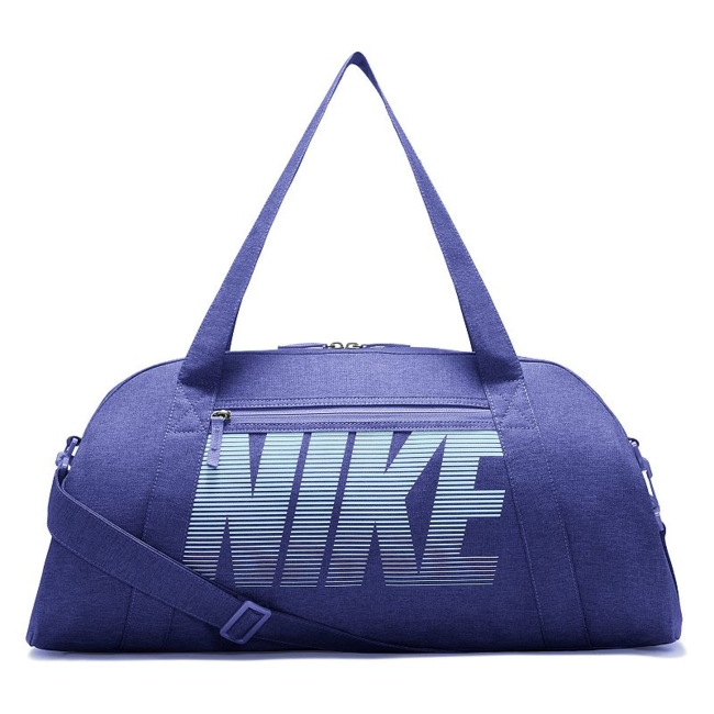 Stow workout essentials and more in sporty style with this women's Nike duffel bag. Durable water-resistant fabric creates a strong exterior Spacious dual-zip main compartment and multiple pockets keep gear organized Single easy-access pocket provides convenient storage space Dual handles and an adjustable, detachable shoulder strap for custom carrying 12H x 22W x 9D Weight: 1 lb. Polyester Zipper closure Model no. BA5490 Size: One Size. Color: Purple. Gender: Unisex.