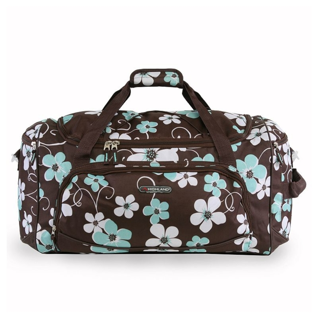 Travel to your destination in style with this Pacific Coast Highland women's travel duffel bag. Durable nylon construction for lasting use Spacious top loading main compartment with top exterior bungee cord Full zippered mesh pocket on interior flap Three extra exterior zippered compartments to maximize storage space Side handle for carrying convenience Adjustable, padded shoulder strap and side carrying handle makes travel easy 12H x 10.5W x 22D Weight: 1.6 lbs. Polyester Zipper closure Manufacturer's 2-year limited warrantyFor warranty information please click here Model no. CT-SD-621-ABT Size: One size. Color: Blue. Gender: Unisex.