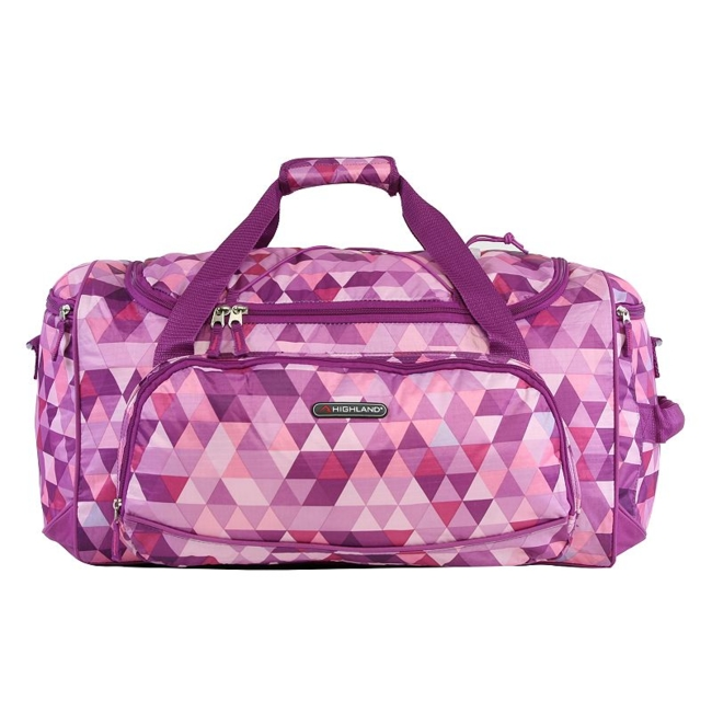 Travel to your destination in style with this Pacific Coast Highland women's travel duffel bag. Durable nylon construction for lasting use Spacious top loading main compartment with top exterior bungee cord Full zippered mesh pocket on interior flap Three extra exterior zippered compartments to maximize storage space Side handle for carrying convenience Adjustable, padded shoulder strap and side carrying handle makes travel easy 12H x 10.5W x 22D Weight: 1.6 lbs. Polyester Zipper closure Manufacturer's 2-year limited warrantyFor warranty information please click here Model no. CT-SD-621-ABT Size: One size. Color: Multicolor. Gender: Unisex.