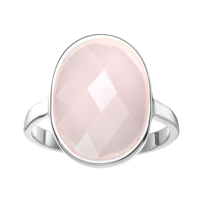 Infuse feminine charm into your look with this LC Lauren Conrad pink oval ring. Ring Details Width: .6 in. Metal: zinc Plating: silver tone Additional details: nickel free Not appropriate for children 14 years old and younger. Size: 7. Gender: Female. Age Group: Adult.
