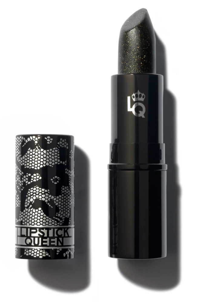What it is: A mysterious black lipstick that hugs and accentuates the curves of your mouth for a fuller-looking lip. What it does: It's so sheer that it has the effect of wearing black lace on your lips and, when worn alone, casts a smoky veil over the natural color of your lips. Worn over another full-coverage lipstick, it transforms your lip color into a sexier, smokier version. The gold flecks within the lipstick make it look like your lips are bathed in black candlelight, for a romantic color that is flattering and subtle. Packed with nourishing ingredients like shea butter, vitamin E and black soybean, the lipstick is conditioning and comfortable. How to use: Wear alone or over another shade. Style Name: Space. nk. apothecary Lipstick Queen Black Lace Rabbit Lipstick. Style Number: 5279480. Available in stores.