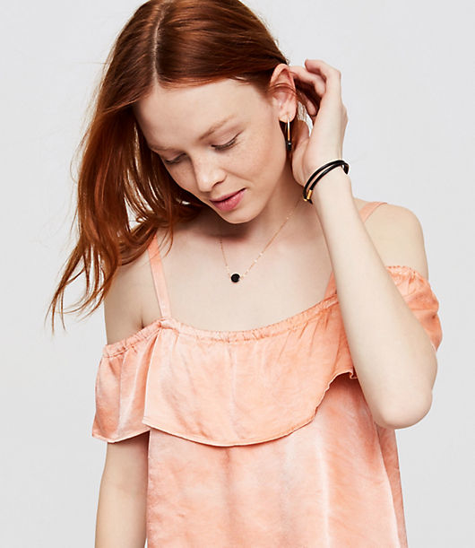 Lacausa is based in Los Angeles, CA. Founded by designer Rebecca Grenell, Lacausa launched in 2013 and is best known for its refined basicsinchblending romantic silhouettes and tomboy cuts with a modern bohemian twist. Born and raised in Malibu by parents who were also entrepreneurial clothing designers, Grenell's deep connection to Los Angeles' fashion and design lineage, as well as the environmental landscape, greatly influence her aesthetic and inspired the name Lacausa. Also meaning inchathe causeinch in Spanish, Lacausa is committed to creating quality garments under ethical conditions, with its headquarters and factory in downtown Los Angeles. Cutest little addition to your wardrobe this season. Loose fit for comfort and style. Spaghetti straps with drop ruffle sleeves. Here at Lou & Grey, we love what our relationship with each maker stands for: building community & encouraging everyone to follow their unique path.