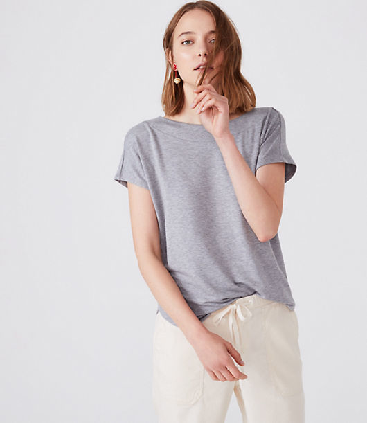 This is the fabric that started it all. Feels like the most luxurious cashmere combined with your favorite sweatshirt. Wrap yourself up and say, ahhhhh. Boatneck. Cap sleeves. Shirttail hem.