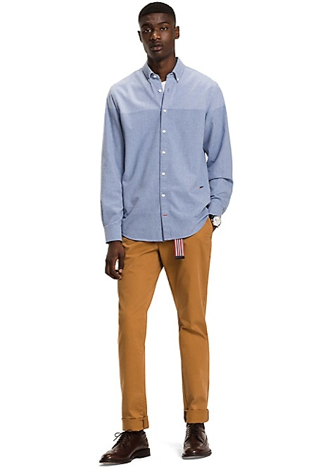Tommy Hilfiger Men's Shirt. We Bring You Our Premium Cotton Dobby Shirt, Cut To Perfection For An Exceptional Fit. Regular Fit. 100% Cotton. Button-Down Collar. Machine Washable. Imported.