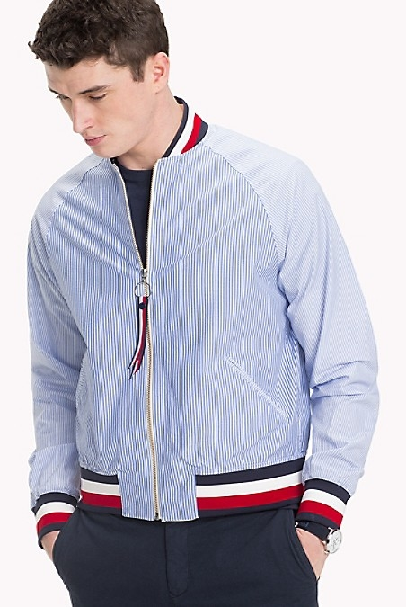 Tommy Hilfiger MenS Shirt. We've Merged The Light Feel Of Your Classic Woven Shirt With Bomber Styling For A Summer Alternative To The Traditional Jacket. Editor's Pick.