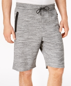 The heathered pattern adds a sense of texture and style to these super comfortable elastic drawstring shorts from Ring of Fire.