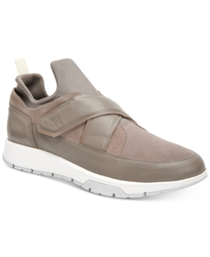 Comfort and style collide in these high-fashion athletic sneakers from Calvin Klein. (Clearance)