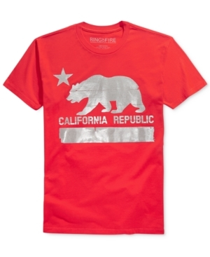 Ring of Fire adds some Golden State style to your casual look with this awesome graphic-print T-shirt.