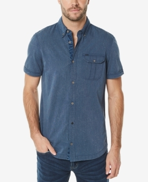 The shirt from Buffalo David Bitton delivers versatile style that's perfect for pairing with your favorite jeans, khakis or shorts.