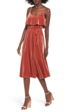 June & Hudson, Women's June & Hudson Velvet Midi Dress