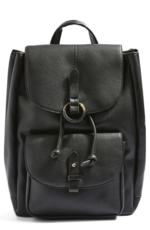 TopShop, Bailey Ring Faux Leather Backpack -