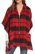 Treasure & Bond, Women's Treasure & Bond Oversize Hooded Plaid Cape