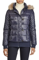 Lauren Ralph Lauren, Women's Lauren Ralph Lauren Quilted Jacket With Faux Fur Trim