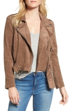 BB Dakota, Women's Bb Dakota Waller Faux Suede Moto Jacket