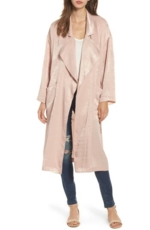 ASTR the Label, Women's Astr The Label Satin Trench Coat