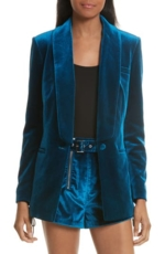 Self-Portrait, Women's Self-Portrait Velvet Blazer
