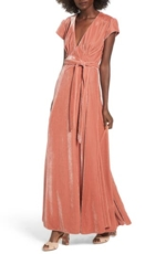 Tularosa, Women's Tularosa Sid Velvet Wrap Maxi Dress