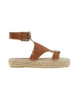 Athleta, Womens Banded Shield Open Toe Sandal By Soludos® Camel