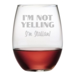 N/A, Im Italian Stemless Wine Glasses (Set of 4)