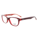Ray-ban, RY 1555 3664 Red On Fluorescent Red Plastic Rectangle 48mm Eyeglasses