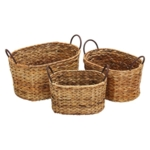 Uma Enterprises, Globe Trotter Oval Wicker Baskets (Set of 3)