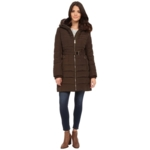 Fashion Habits LLC, Michael Kors Womens Brown Down Belted Hooded Coat