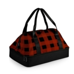Picnic Time, ONIVA Potluck Casserole Tote, (Red & Black Buffalo Plaid)