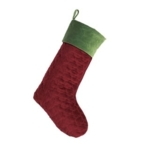 Peking Handicraft, Inc., Clover Velvet Stocking Red