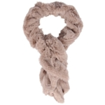 Overstock, Womens Warm Faux Fur Collar Neck Warmer Wrap Scarf - Light Khaki