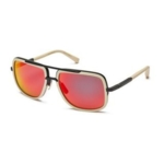 Dita, Mach One DRX-2030K Mens Matte Bone Black Frame Dark Grey Red Mirror Lens Sunglasses (As Is Item)
