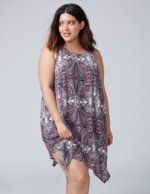 Lane Bryant, Women's High-Neck Swing Cover-Up 22/24 Paisley Rhapsody