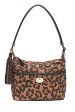 Tommy Hilfiger, Leopard Printed Suede Small Bucket Bag - Multi