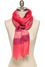 Tommy Hilfiger, Plaid Scarf - Rouge Red-Pt / Multi - Os