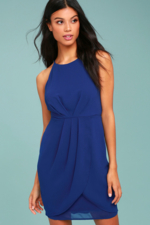 Lulus, Best Wishes Royal Blue Dress |