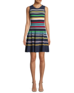 Milly, Rainbow Striped Flare Dress