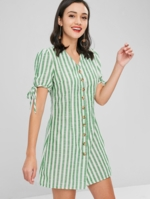 Zaful, Button Down Striped Dress