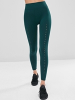 Zaful, High Waisted Perforated Workout Leggings
