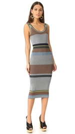 Diane von Furstenberg, Sleeveless Knit Tank Midi Dress