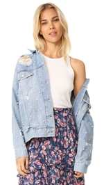 Free People, Free People Sunday Funday Trucker Jacket