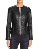 Cole Haan, Quilted Leather Jacket