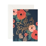 Rifle Paper Co., Rifle Paper Life is Beautiful Card