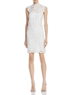 Laundry by Shelli Segal, Laundry by Shelli Segal Mock-Neck Lace Dress