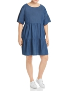 Junarose Plus, Tiered Denim Dress